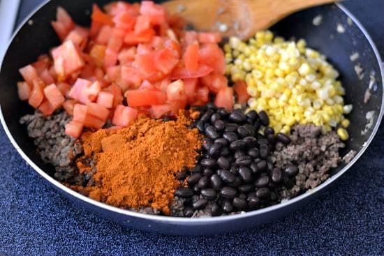 Southwestern Stuffed Pepper ingredients
