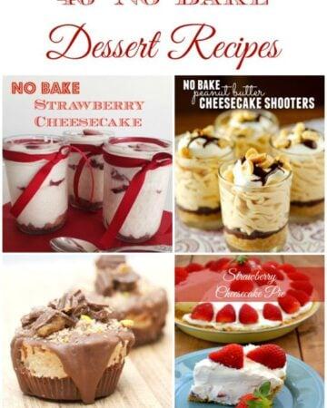 46 No Bake Desserts via flouronmyface.com