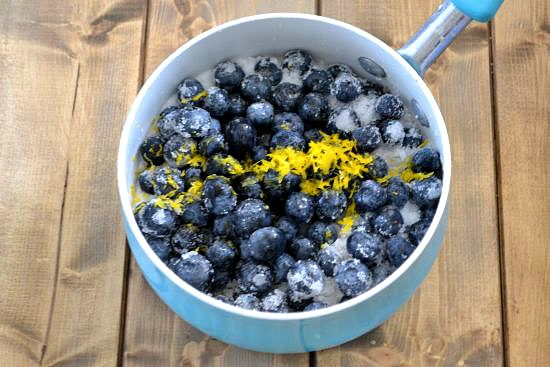 Blueberry Simple Syrup ingredients