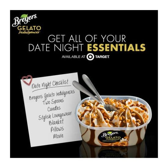 Breyers Gelato Indulgences at Target with a special offer through Cartwheel