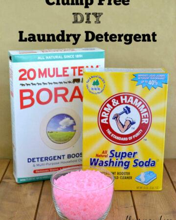 Clump Free DIY Landry Detergent