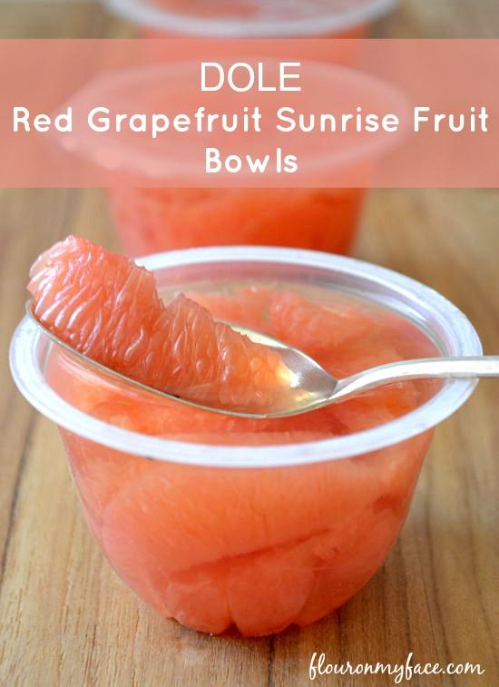 Dole Red Grapefruit Sunrise Bowls