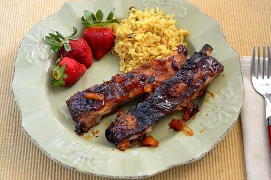Easy Crock Pot Hawaiian BBQ Pork Ribs