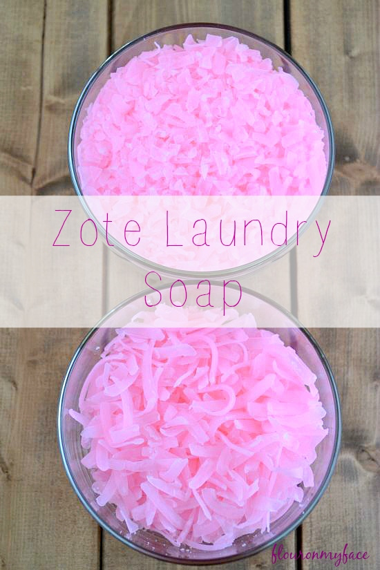 Grated Zout Laundry Soap for DIY Laundry Detergent