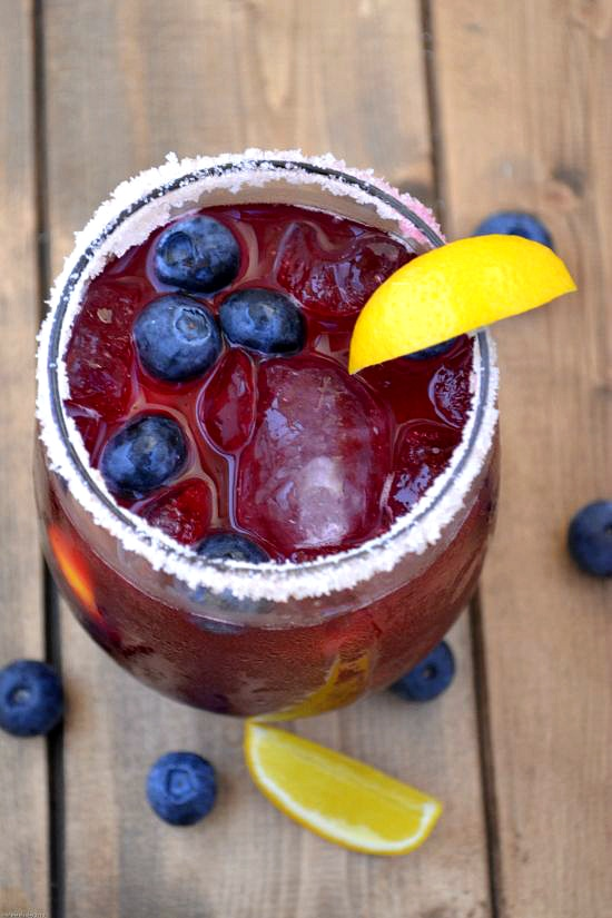 Celebrate National Margarita Day with a Blueberry Meyer Lemon Margarita