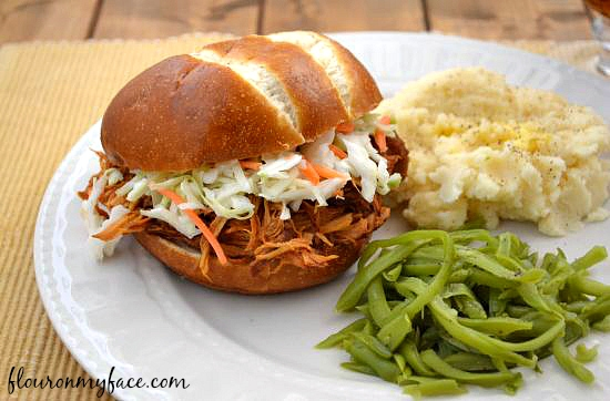 Raspberry Chipotle Pulled Chicken Sandwich