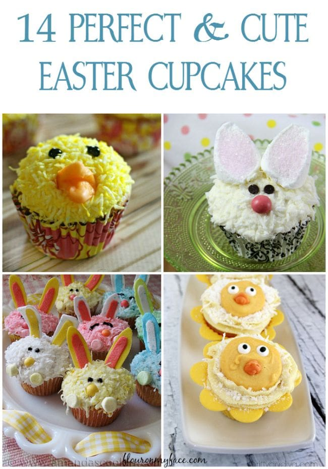 14 Easter Cupcake Recipes via flouronmyface.com