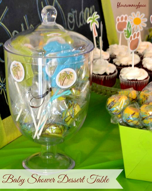 Baby Shower Deesert Table by flouronmyface.com