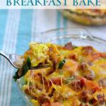 Cheesy Breakfast Bake via flouronmyface.com