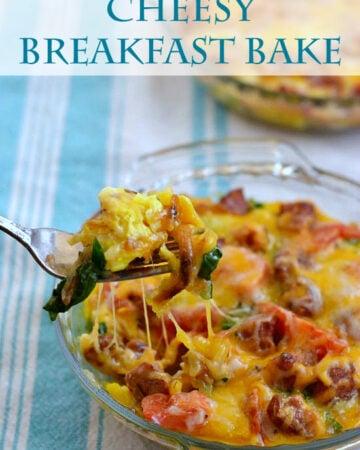 Cheesy Breakfast Bake via flouronmyface.com