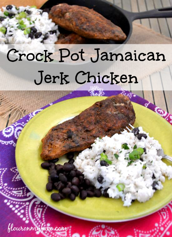 Crock Pot Jamaican Jerk Chicken from flouronmyface.com