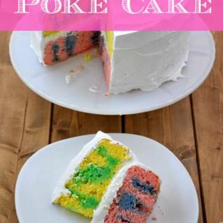 Easter Poke Cake by flouronmyface.com