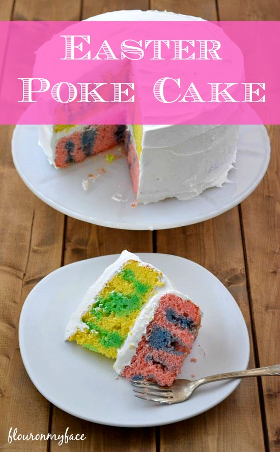 Blue Jello Cake And Pink Cake The Blue