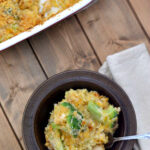 Easy Cheesy Chicken Broccoli Rice from flouronmyface.com