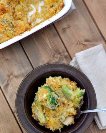 Easy Cheesy Chicken Broccoli Rice from flouronmyface.com