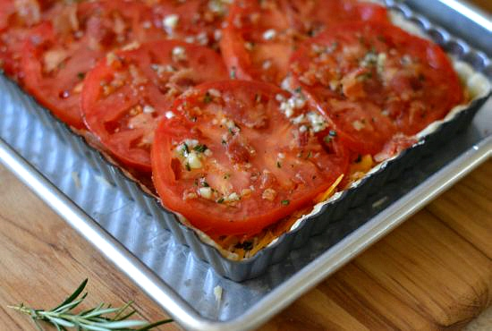 Florida Tomato Tart Recipe via flouronmyface.com