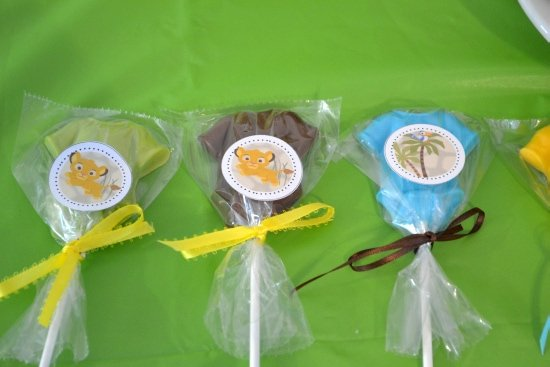 lion king baby shower favors packaged at