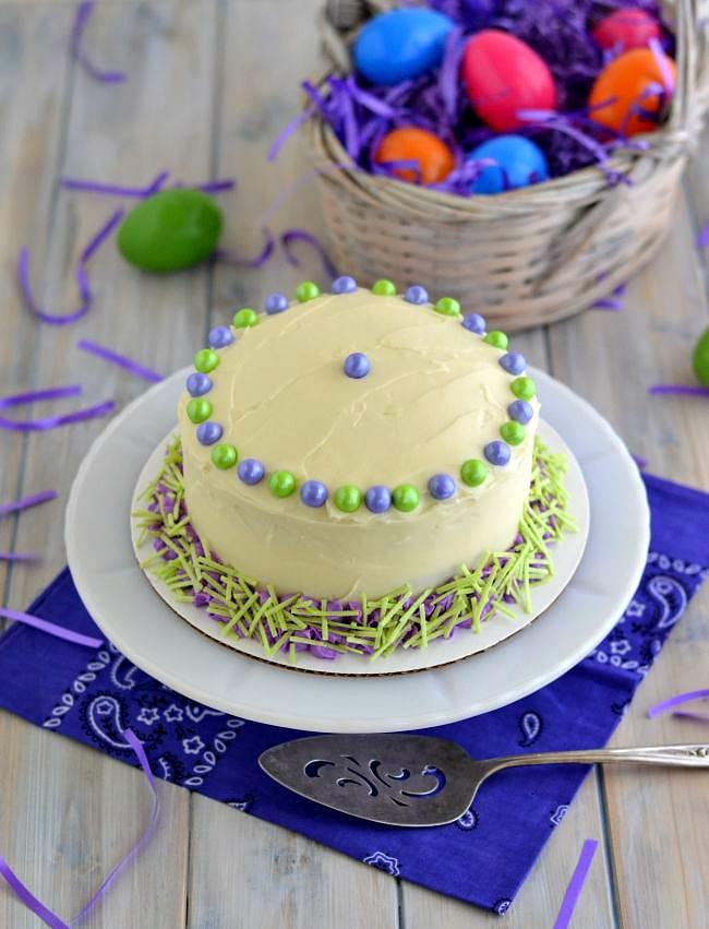 Pillsbury Purple Funfetti Cake via flouronmyface.com