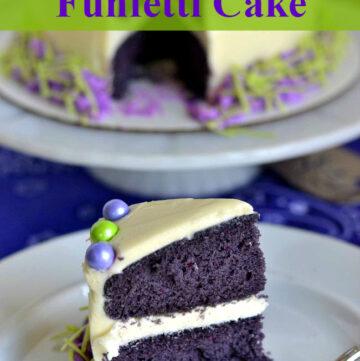 Purple Funfetti Cake via flouronmyface.com