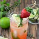 Strawberry Mojito recipe via flouronmyface.com
