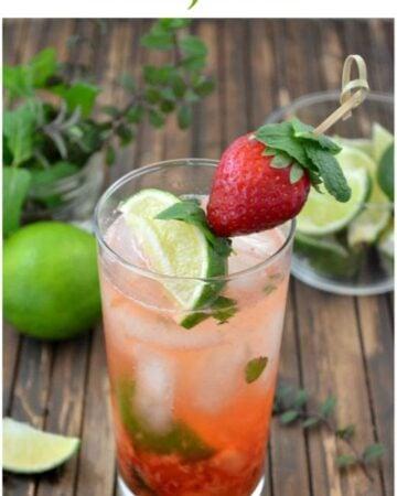 Strawberry Mojito recipe via flouronmyface.com