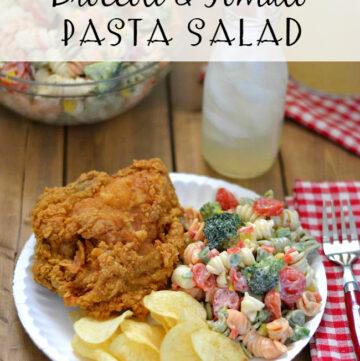 Broccoli Tomato Pasta Salad