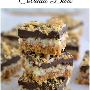 Rich and delicious CHocolate COvered Coconut Bars via flouronmyface.com