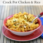 This easy Crock Pot Chicken and Rice recipe only has 3 main ingredients.