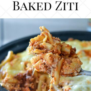 Crock Pot Baked Ziti recipe made with uncooked pasta in the slow cooker via flouronmyface.com