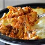 Easy Crock Pot Baked Ziti via flouronmyface.com
