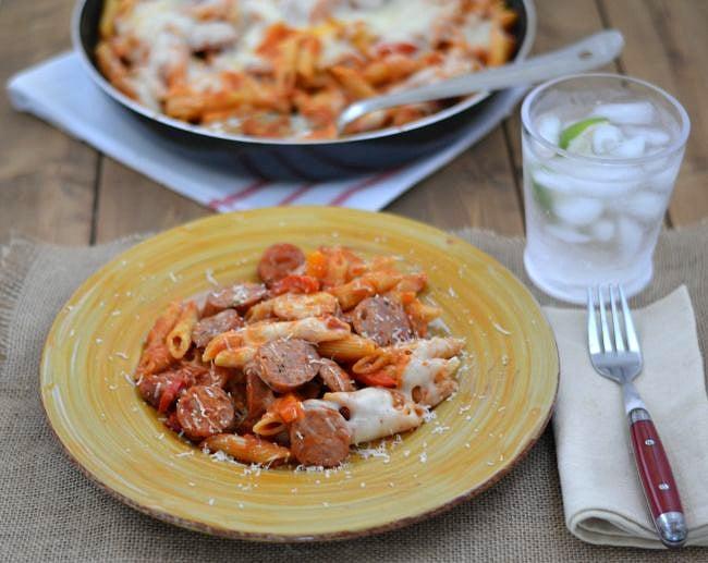 Easy Italian Sausage Skillet recipe via flouronmyface.com