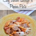 Easy Italian Sausage and Pepper Pasta #CookingWithGuyFieri