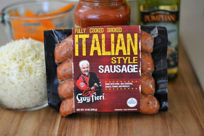Easy Italian Sausage and Pepper Pasta ingredients via flouronmyface.com