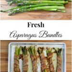 Fresh Asparagus Bundles wrapped in bacon via flouronmyface.com