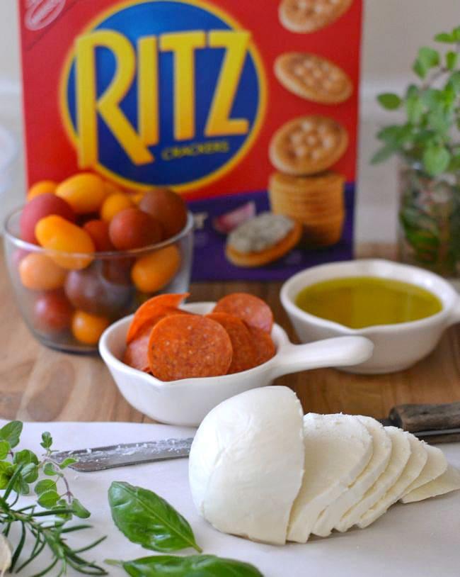 Pepperoni Bruschetta Bites ingredients #shop via flouronmyface.com