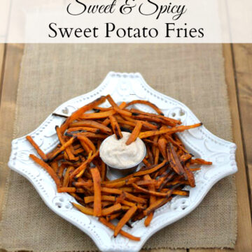 Sweet & Spicy Sweet Potato Fries are a perfect #SplendaSweeties and #SweetSwaps snack recipe