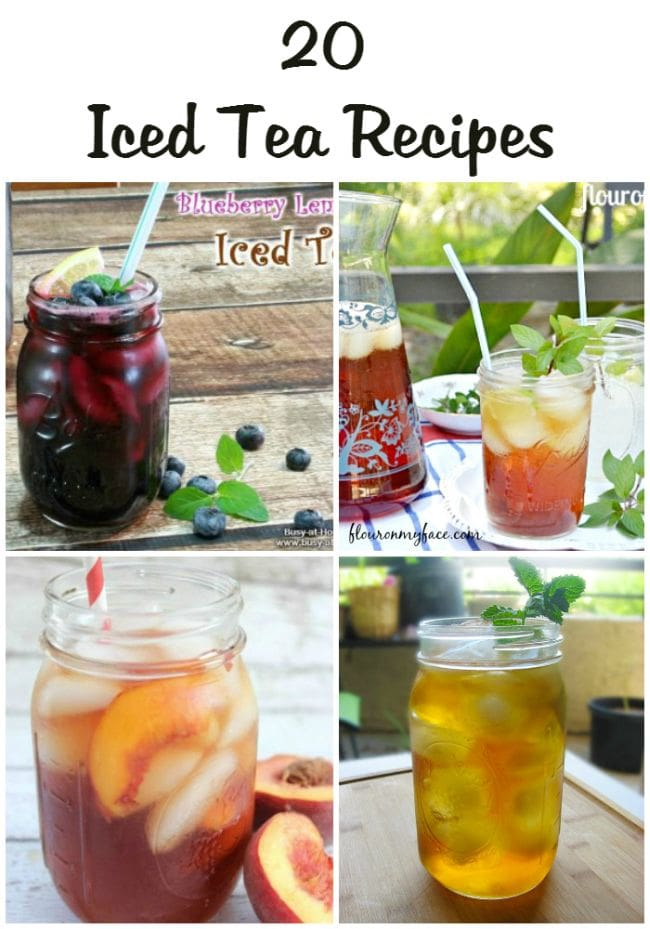 20 Iced Tea Recipes via flouronmyface.com