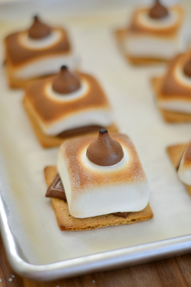 #shop No fire Salted Caramel S'mores made in the oven via flouronmyface.com