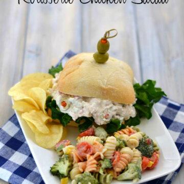 Rotisserie Chicken Salad via flouronmyface.com