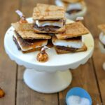 Indoor Salted Caramel S'mores recipe via flouronmyface.com