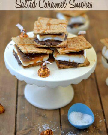 Indoor Salted Caramel S'mores recipe via flouronmyface.com