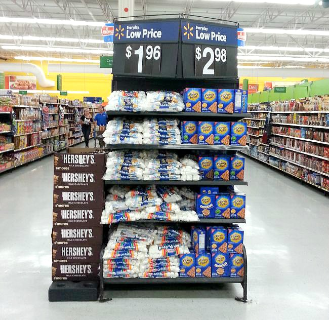 S'mores ingredients at Walmart