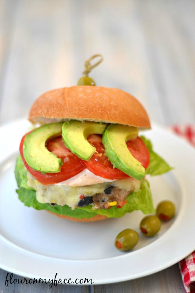 A South of the Burger Turkey Burger is a moist and delicious burger option this Memorial Day weekend flouronmyface.com