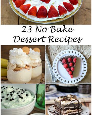 23 No Bake Dessert Recipes via flouronmyface.com