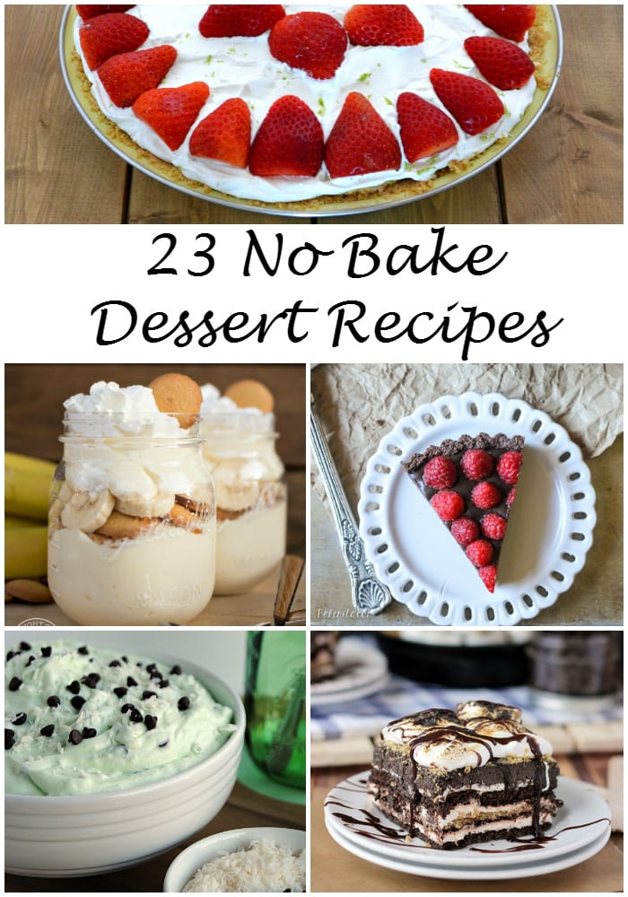 23 No Bake Dessert Recipes via flouronmyface.com