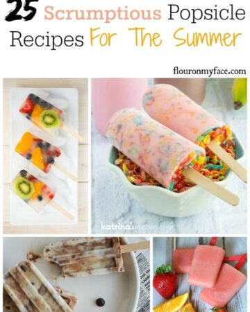 25 Scrumptious Popsicle Recipes for the Summer via flouronmyface.com
