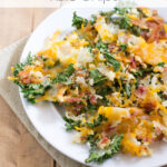 Bacon Cheddar Kale Chips #ChoppedAtHome