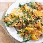 Bacon Cheddar Kale Chips via flouronmyface.com