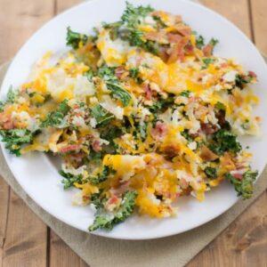 Bacon Cheddar Kale Chips recipe via flouronmyface.com