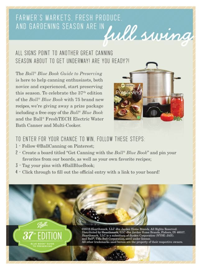 Ball® Blue Book® Guide to Preserving, 37th Edition Recipe ...